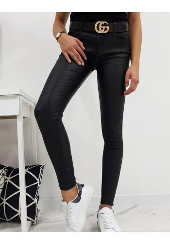 Dámské voskované kalhoty v černé barvě