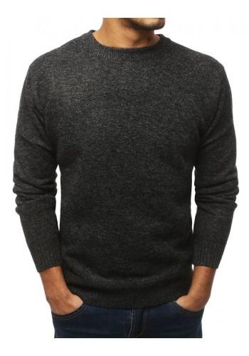Oteplený pánský svetr tmavě šedé barvy