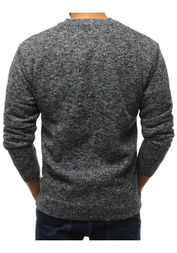 Černý oteplený svetr pro pány