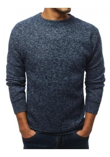 Oteplený pánský svetr modré barvy