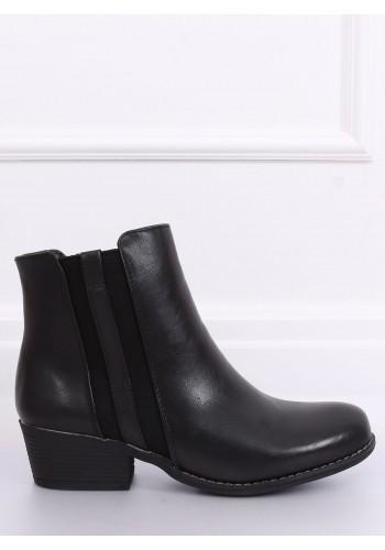 Černé módní polobotky pro dámy