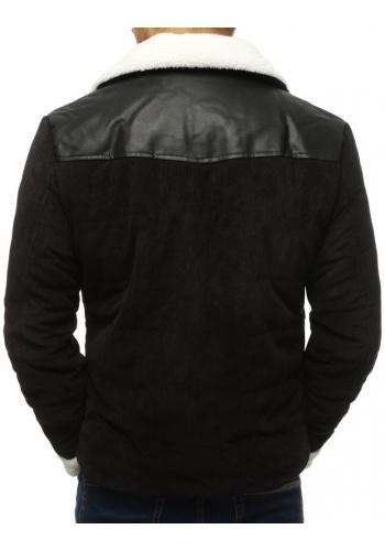 Černá manšestrová bunda bez kapuce pro pány