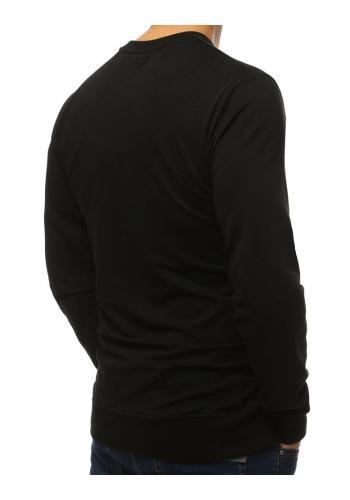 Pánská stylová mikina s potiskem v černé barvě