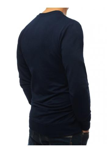 Módní pánská mikina tmavě modré barvy s potiskem
