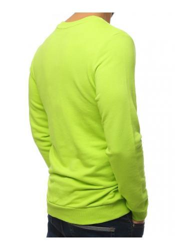 Zelená stylová mikina s potiskem pro pány