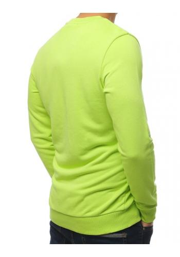 Módní pánská mikina zelené barvy s potiskem