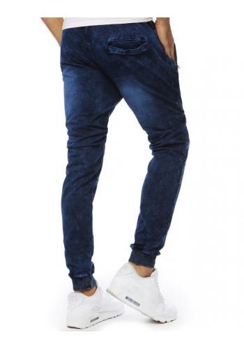 Tmavě modré módní Joggery s riflovým vzhledem pro pány