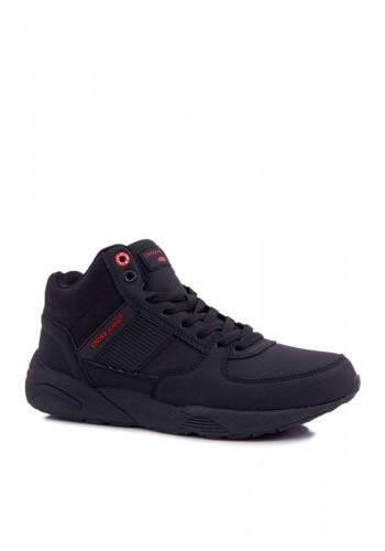 Trekingová pánská obuv černé barvy
