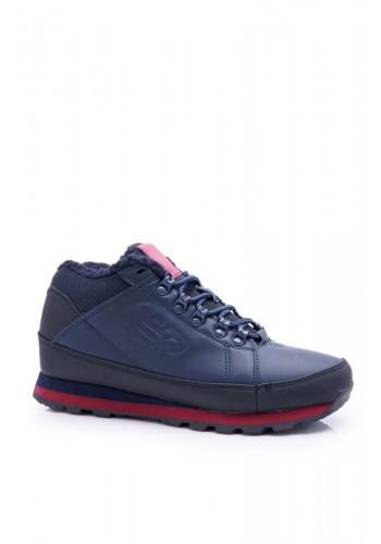 Pánská trekingová obuv v modro-červené barvě