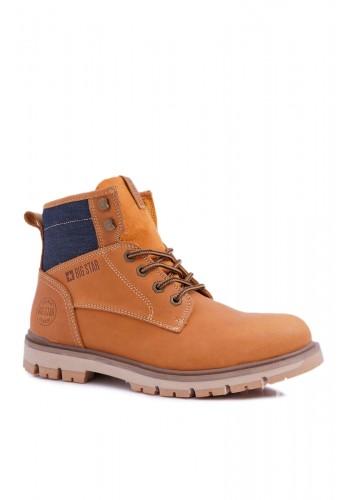 Hnědé kožené boty Big Star pro pány