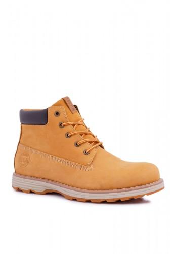 Pánské kožené boty Big Star v hnědé barvě