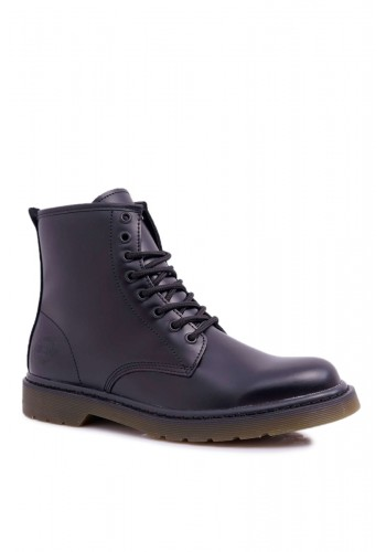 Černé kožené boty Big Star pro pány