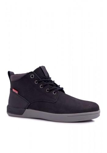 Kožené pánské boty Big Star černé barvy