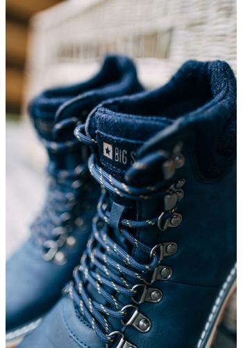 Pánské módní boty Big Star v tmavě modré barvě