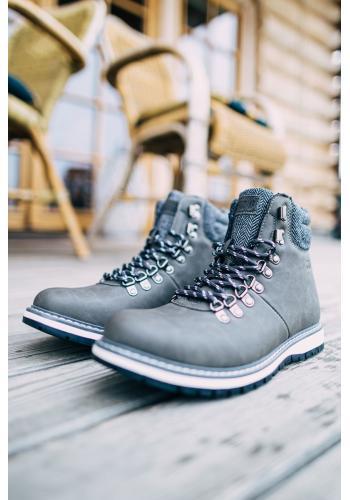 Šedé módní boty Big Star pro pány