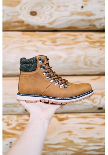 Módní pánské boty Big Star hnědé barvy