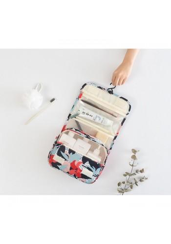 Rozkládací kosmetická dámská taška s květy