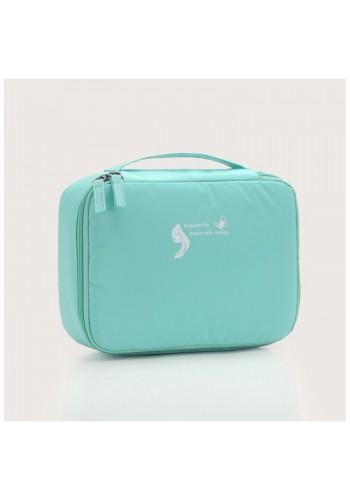 Dámská kosmetická taška v mátové barvě
