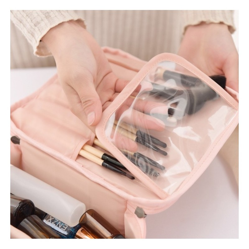 Šedá kosmetická taška pro dámy