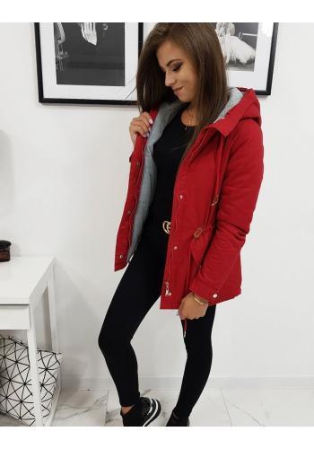 Červená zimní Parka s kapucí pro dámy
