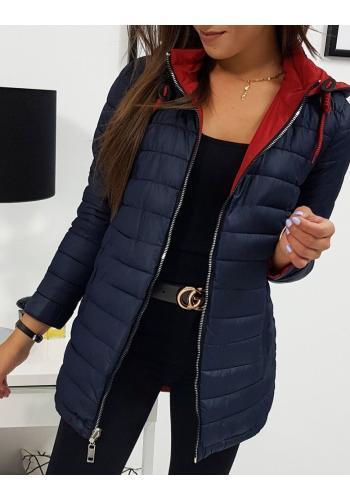 Červená oboustranná bunda s kapucí pro dámy