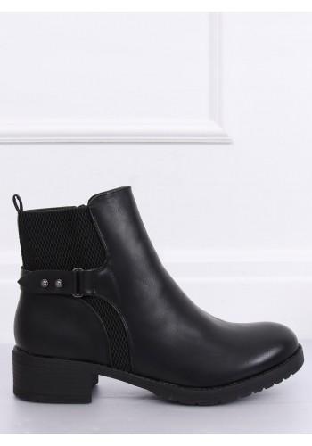 Dámské módní polobotky v černé barvě