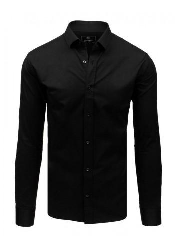 Elegantní pánská košile černé barvy s dlouhým rukávem
