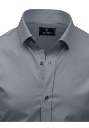 Šedá elegantní košile s dlouhým rukávem pro pány