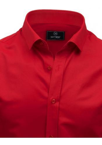 Elegantní pánské košile červené barvy s dlouhým rukávem