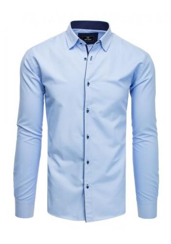 Elegantní pánská košile světle modré barvy s dlouhým rukávem