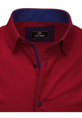 Bordová elegantní košile s dlouhým rukávem pro pány