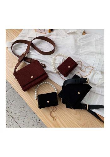 Elegantní dámská kabelka bordové barvy s kapsičkou