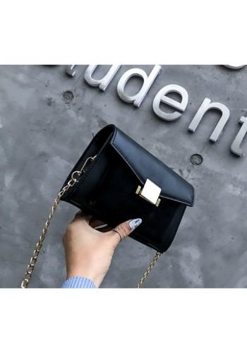 Elegantní dámská kabelka černé barvy s řetízkem