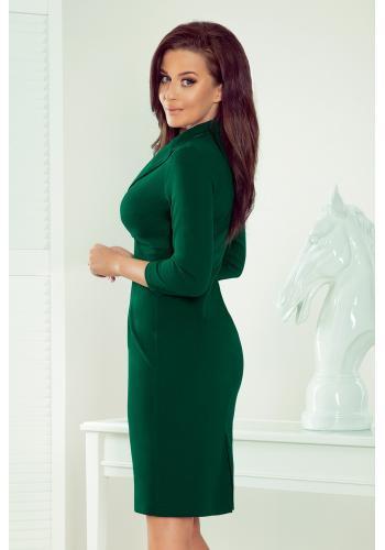 Zelené elegantní šaty s výstřihem pro dámy