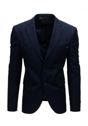 Pánské jednořadé sako se dvěma knoflíky v tmavě modré barvě