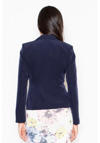 Bílé elegantní sako v jednoduchém střihu pro dámy
