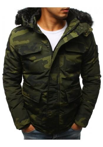 Maskáčová pánská bunda zelené barvy na zimu