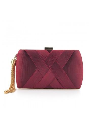 Večerní dámská kabelka bordové barvy