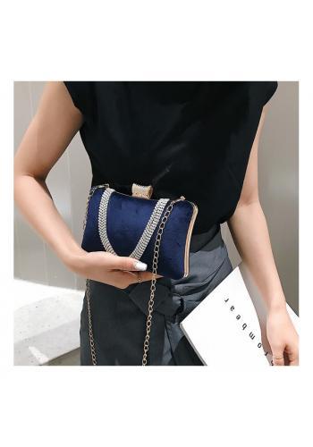 Tmavě modrá společenská kabelka pro dámy