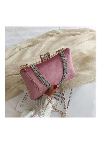 Společenská dámská kabelka růžové barvy