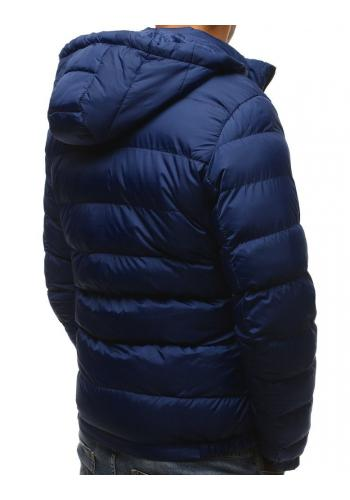 Prošívaná pánská bunda tmavě modré barvy na zimu