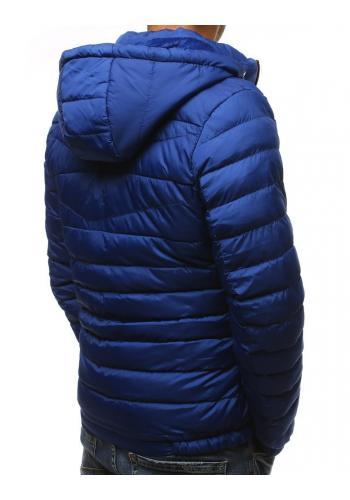Prošívaná pánská bunda světle modré barvy na zimu