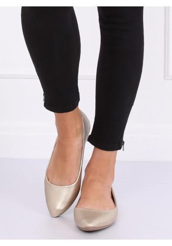 Zlaté klasické baleríny pro dámy