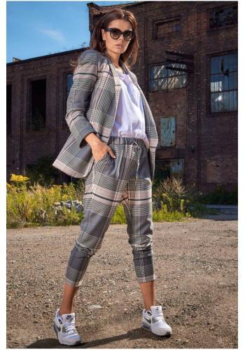 Barevné vzorované kalhoty s elastickým pasem pro dámy