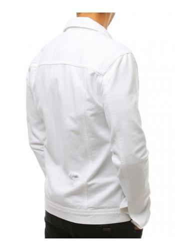 Riflová pánská bunda tmavě šedé barvy