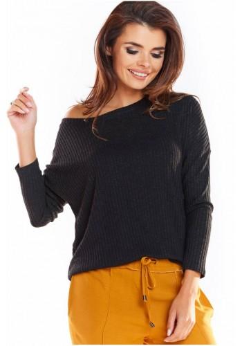 Klasické dámské svetry černé barvy s dlouhým rukávem