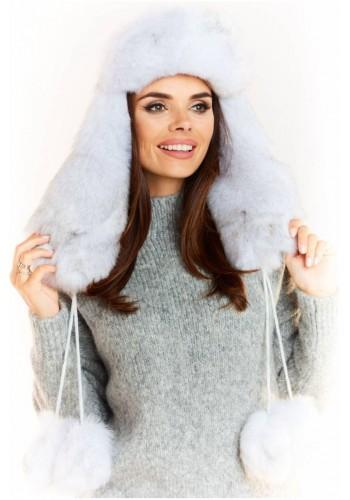 Bílá teplá čepice pro dámy