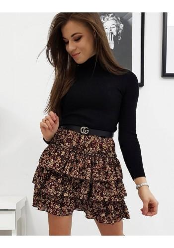 Klasické dámské roláky černé barvy s dlouhým rukávem