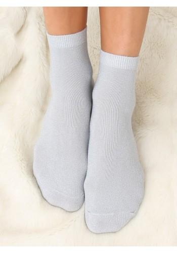 Dámské třpytivé ponožky v šedé barvě