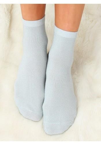 Třpytivé dámské ponožky mátové barvy